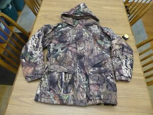 Herter's Youth Large Winter Hunting Coat Mossy Oak Hoodie Hunting Jacket EUC