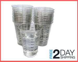 Disposable Graduated Clear Plastic Cup 20 8oz for Mixing Paint Stain Resin