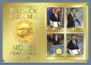 Antigua and Barbuda 2009 President Barack Obama Stamp Sheet of Four MNH