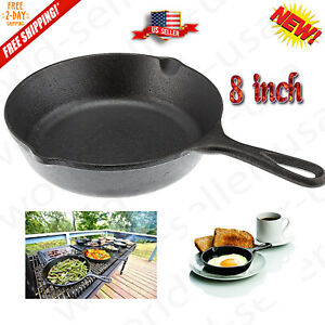 Lodge 8 Inch Cast Iron Skillet Small Pre-Seasoned Skillet for Stovetop Oven
