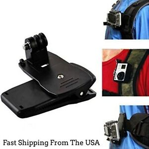 360 Quick Backpack Clip Clamp Mount For GoPro Hero7654Session SJ9000