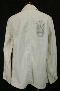 Lee 30's Princeton University Memorial Jacket Shirt Union Made White Y138