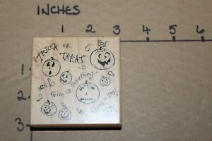 PSX Trick or Treat Halloween Holiday Rubber Stamp
