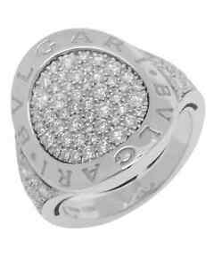 Bvlgari Bvlgari Curvo 18k White Gold Diamond Ring Size 6.5. BG0499 AN854863