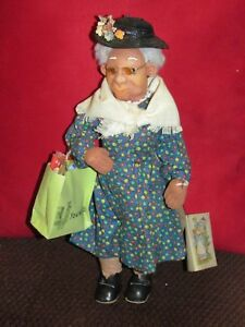 Shopping Bag Lady-needle sculpture by Sandy Shull--1980--one of a kind