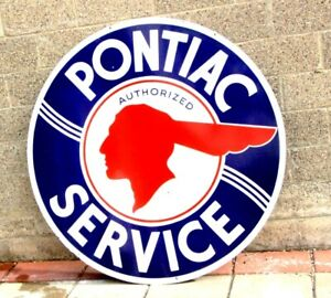 1950's Pontiac Porcelain sign check out my other neon signs for ChevroletFord