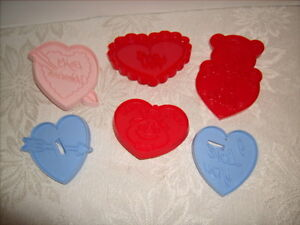Vintage HEART VALENTINE'S DAY Cookie Cutter Lot of 6 Great Shape