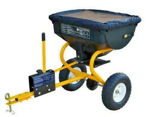 85 lb Tow Behind Broadcast Spreader ATV Tractor Fertilizer Grass Seed Ice Melt