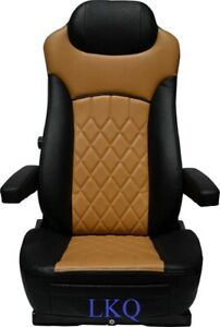 REPLACEMENT SEAT FOR KENWORTH PETERBILT FREIGHTLINER VOLVO BLACK & TAN RIG 65355