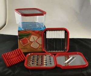 Multi Grater Set Various Sizes Vegetables Fruits Cheeses, Zester Nesting Boxed