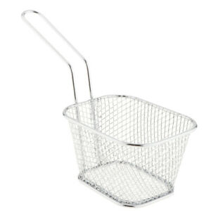 Metal Fried Basket Mesh Pasta Strainer Serving Food Presentation Cooking