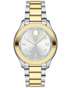 *BRAND NEW* Movado Women's Bold Two Tone Stainless Steel Bracelet  Watch 3600418
