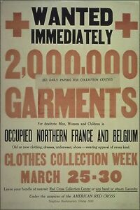 Poster Many Sizes; Red Cross Clothing Donation Wwi Poster 1917 - 1919
