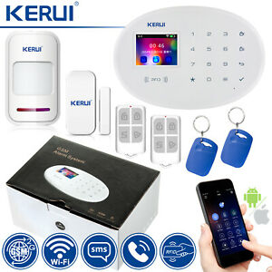 KERUI WiFi GSM SMS Home Security Alarm SystemRFID Access Burglar Siren DIY Lot