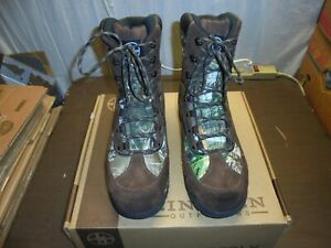 LINCOLN OUTFITTERS BROWN CAMO Hunting Boots for Men SZ 14