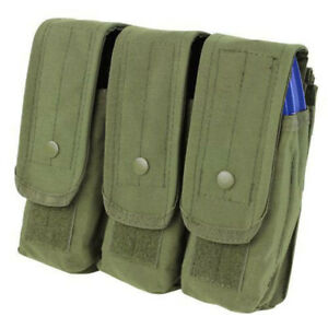 MOLLE Triple Pouch 7.62mm 5.56mm Magazine Mag Close Flap Pouch OD GREEN