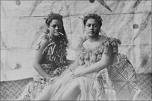 Poster Many Sizes; Samoan Women In Traditional Dress Ca 1910S