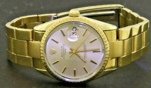Rolex Date 1550 14K gold capped automatic men's watch Excellent condition!