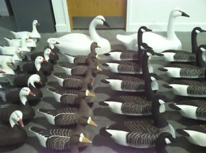 DuckGoose Cork Decoys Hand Carved by Carver Bill Kell