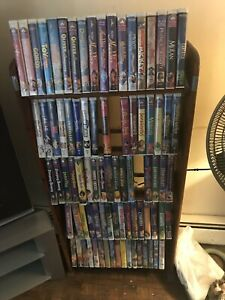 Walt Disney 68 Vhs  9 Black Diamond 3 Red Signitures + 59 Classic Disney Plus