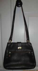 Vintage MARK CROSS NEW YORK Brown Pebble Leather Handbag