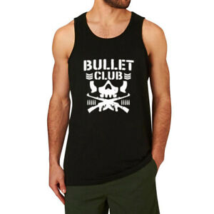 Bullet Club Funny Men' Gym Fitness Workout Muscle Tank Tops Sleeveless Shirt