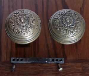 Antique Pair of Rare Bronze Penn Hardware Door Knobs. Circa-1880s