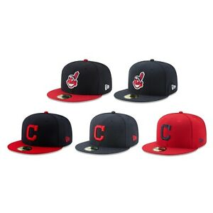 Cleveland Indians CLE MLB Authentic New Era 59FIFTY Fitted Cap 5950 Hat $39.99