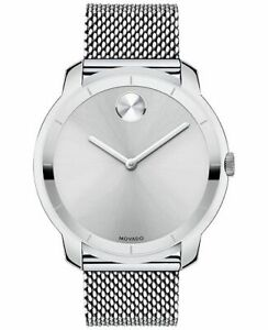 Movado Swiss Bold Stainless Steel Mesh Bracelet Men's Watch 44mm (3600260)