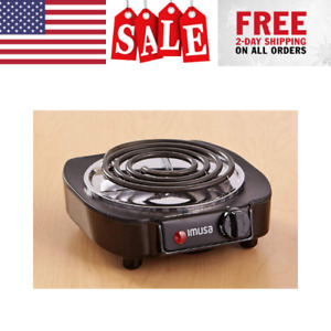 Portable Single Electric Burner Hot Plate Stove Dorm RV Travel Cook Countertop