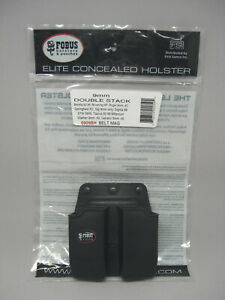 Fobus Double Stack Magazine Belt Pouch for 9mm Magazines - 6909BH