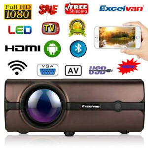 Multimedia 1080P LCD Projector Bluetooth Android Home Theater USB VGA SD HDMI US