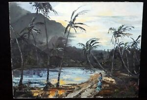 1966 Tahitian Oil Painting
