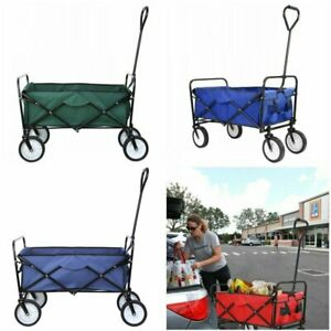 Collapsible Folding Wagon Garden Beach Utility Cart Toy Sport Buggy Kid Trolley