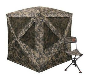 Sports Afield Journey Ground Blind & Swivel Chair Combo ***