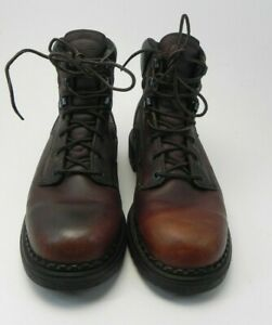 "RED WING 926 DynaForce Brown Leather EH 6"" Work Soft Toe Boots 9b Mens US"