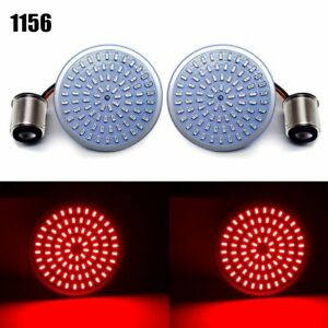 2PCS 1156 Rear Bullet Style Red LED Turn Signal Light Inserts Motorcycle Running