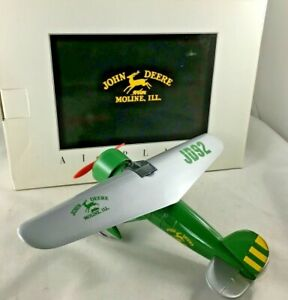 John Deere Airplane Coin Bank Spec Cast 1993 JD92 Limited Edition Vintage NIB