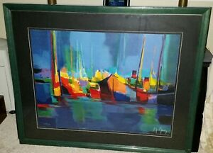 Marcel Mouly Limited Edition Signed Lithograph #149 of 300 - Framed and Matted