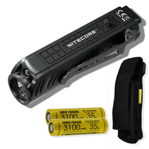 NITECORE P18 1800 lm Tactical Flashlight with Red Light and 2x 18650 Batteries