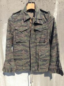 green Camouflage Ladies Tops Jacket M65 Stripe Casual Fashion Cute Cool Y159