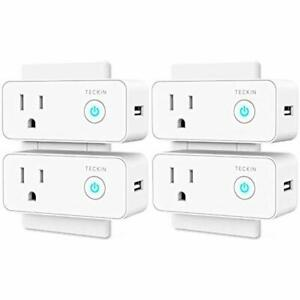 Smart Plug Outlet Switches Wifi USB Mini Socket Compatible With Alexa Google 4