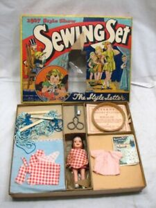 Vintage Gold Medal Style Setter 1937 Show Sewing Set Toy Box Fashion Transogram $99.99