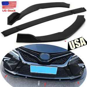 Black Front Bumper Lip Cover Trim For Toyota Camry 2018 2019 SE/XSE