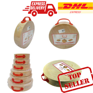 QUALITY CUTTING BOARD LARGE CORE REAL WOOD HEAVY CHOPPING MEAT BONE HOLDER SET