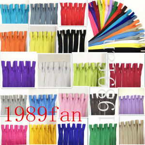 12 20inch invisible nylon coil zipper for bulk sewing process 20pcs 20 color GBP 6.69