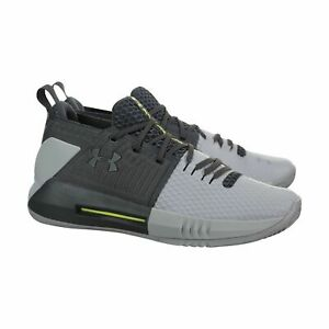 Under Armour Men Drive 4 Low Steel Graphite Gray Basketball Shoes 3000086 111 $67.96