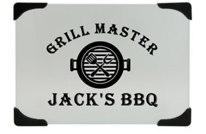 Personalized grill master cutting board great Father's Day gift
