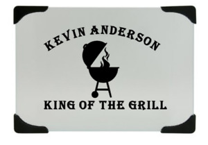 Personalized cutting board, king of the grill, great Father's Day gift