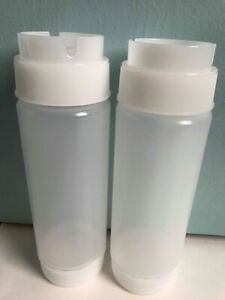 Lot of 2 TableCraft ValveTop Squeeze Bottles 12 oz. each Inverta Top NEW